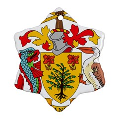 Barbados Coat Of Arms Snowflake Ornament (2 Side) by abbeyz71