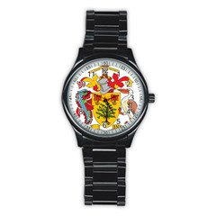 Barbados Coat Of Arms Stainless Steel Round Watch by abbeyz71