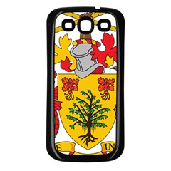 Barbados Coat Of Arms Samsung Galaxy S3 Back Case (black)