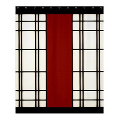 Shoji   Red Shower Curtain 60  X 72  (medium)  by Tatami