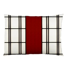 Shoji   Red Pillow Case (two Sides) by Tatami