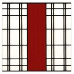 SHOJI - RED Large Satin Scarf (Square) Front