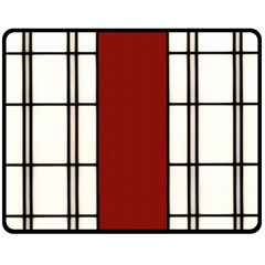 Shoji   Red Fleece Blanket (medium)  by Tatami