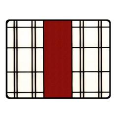 Shoji   Red Double Sided Fleece Blanket (small)