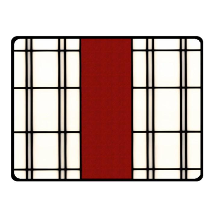 SHOJI - RED Double Sided Fleece Blanket (Small)