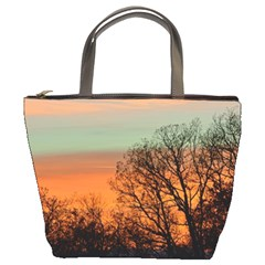 Twilight Sunset Sky Evening Clouds Bucket Bags by Amaryn4rt