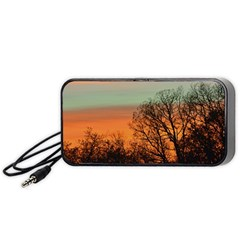 Twilight Sunset Sky Evening Clouds Portable Speaker (black)  by Amaryn4rt