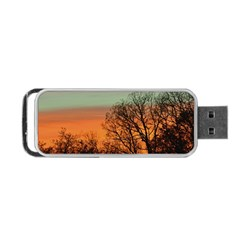 Twilight Sunset Sky Evening Clouds Portable Usb Flash (one Side)
