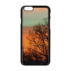 Twilight Sunset Sky Evening Clouds Apple Iphone 6/6s Black Enamel Case