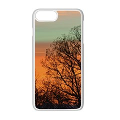 Twilight Sunset Sky Evening Clouds Apple iPhone 7 Plus White Seamless Case by Amaryn4rt