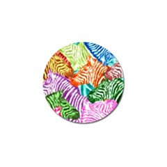 Zebra Colorful Abstract Collage Golf Ball Marker by Amaryn4rt