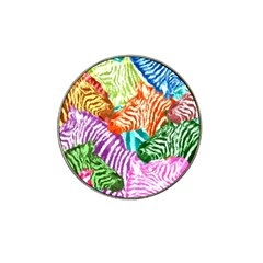 Zebra Colorful Abstract Collage Hat Clip Ball Marker