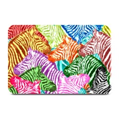 Zebra Colorful Abstract Collage Plate Mats by Amaryn4rt
