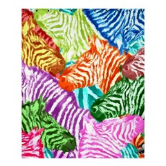 Zebra Colorful Abstract Collage Shower Curtain 60  X 72  (medium)  by Amaryn4rt