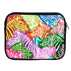 Zebra Colorful Abstract Collage Apple Ipad 2/3/4 Zipper Cases by Amaryn4rt