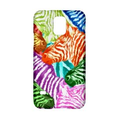 Zebra Colorful Abstract Collage Samsung Galaxy S5 Hardshell Case  by Amaryn4rt