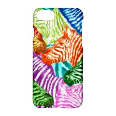 Zebra Colorful Abstract Collage Apple Iphone 7 Hardshell Case