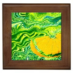 Zitro Abstract Sour Texture Food Framed Tiles by Amaryn4rt