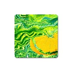 Zitro Abstract Sour Texture Food Square Magnet by Amaryn4rt