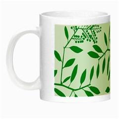 Leaves Foliage Green Wallpaper Night Luminous Mugs by Amaryn4rt
