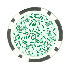 Leaves Foliage Green Wallpaper Poker Chip Card Guards by Amaryn4rt
