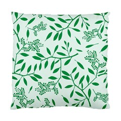 Leaves Foliage Green Wallpaper Standard Cushion Case (one Side) by Amaryn4rt
