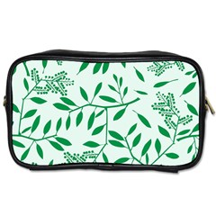 Leaves Foliage Green Wallpaper Toiletries Bags 2 Side by Amaryn4rt