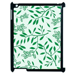 Leaves Foliage Green Wallpaper Apple Ipad 2 Case (black) by Amaryn4rt