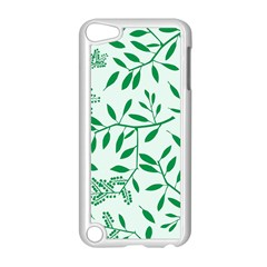 Leaves Foliage Green Wallpaper Apple Ipod Touch 5 Case (white) by Amaryn4rt