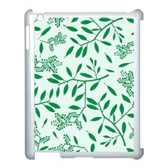 Leaves Foliage Green Wallpaper Apple Ipad 3/4 Case (white) by Amaryn4rt