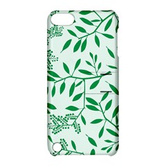 Leaves Foliage Green Wallpaper Apple Ipod Touch 5 Hardshell Case With Stand by Amaryn4rt