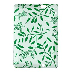 Leaves Foliage Green Wallpaper Kindle Fire Hdx 8 9  Hardshell Case by Amaryn4rt
