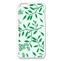 Leaves Foliage Green Wallpaper Apple Iphone 6 Plus/6s Plus Enamel White Case by Amaryn4rt