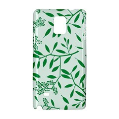 Leaves Foliage Green Wallpaper Samsung Galaxy Note 4 Hardshell Case by Amaryn4rt