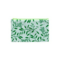 Leaves Foliage Green Wallpaper Cosmetic Bag (xs) by Amaryn4rt