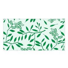 Leaves Foliage Green Wallpaper Satin Shawl by Amaryn4rt
