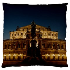 Dresden Semper Opera House Large Flano Cushion Case (two Sides) by Amaryn4rt
