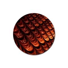 Fractal Mathematics Frax Rubber Coaster (round)  by Amaryn4rt