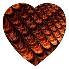 Fractal Mathematics Frax Jigsaw Puzzle (heart) by Amaryn4rt