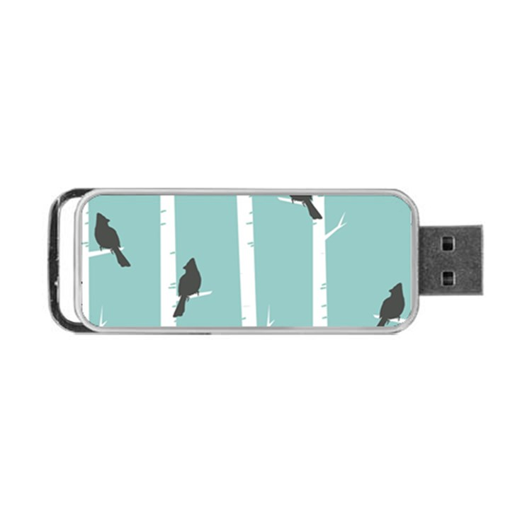 Birds Trees Birch Birch Trees Portable USB Flash (Two Sides)