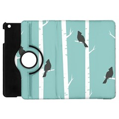 Birds Trees Birch Birch Trees Apple Ipad Mini Flip 360 Case