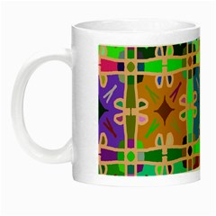 Abstract Pattern Background Design Night Luminous Mugs by Amaryn4rt