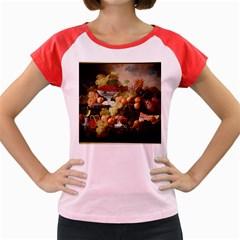 Abundance Of Fruit Severin Roesen Women s Cap Sleeve T Shirt