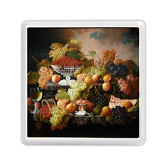 Abundance Of Fruit Severin Roesen Memory Card Reader (square)  by Amaryn4rt