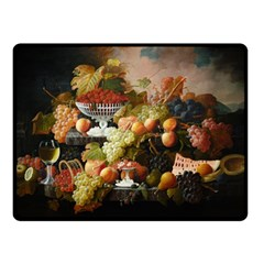 Abundance Of Fruit Severin Roesen Double Sided Fleece Blanket (small)