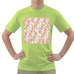Background Page Template Floral Green T Shirt