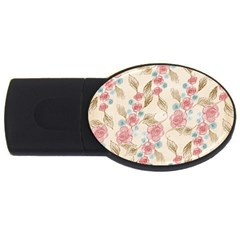 Background Page Template Floral Usb Flash Drive Oval (2 Gb)  by Amaryn4rt