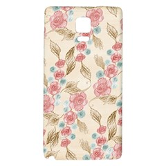 Background Page Template Floral Galaxy Note 4 Back Case by Amaryn4rt