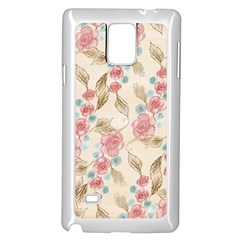 Background Page Template Floral Samsung Galaxy Note 4 Case (white)