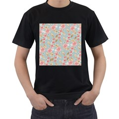 Background Page Template Floral Men s T Shirt (black)